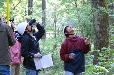 冨士演習林での森圏管理学実習(生圏システム学専攻)