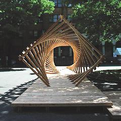 2007年度の五月祭にセルフビルドで作製したThe NAVE( 正面からみたところ)